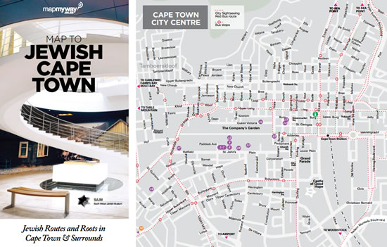 Map to Jewish Cape Town